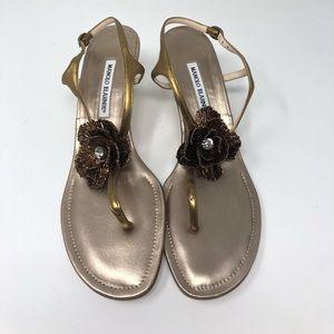 Manolo Blahnik sandals (woman's U.S 11)